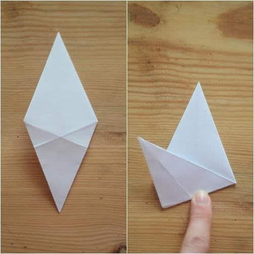 Como hacer estrellas con papel reciclado5
