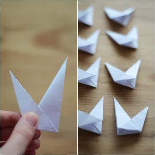 Como hacer estrellas con papel reciclado7