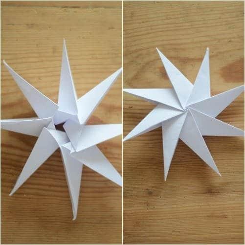 Como hacer estrellas con papel reciclado9