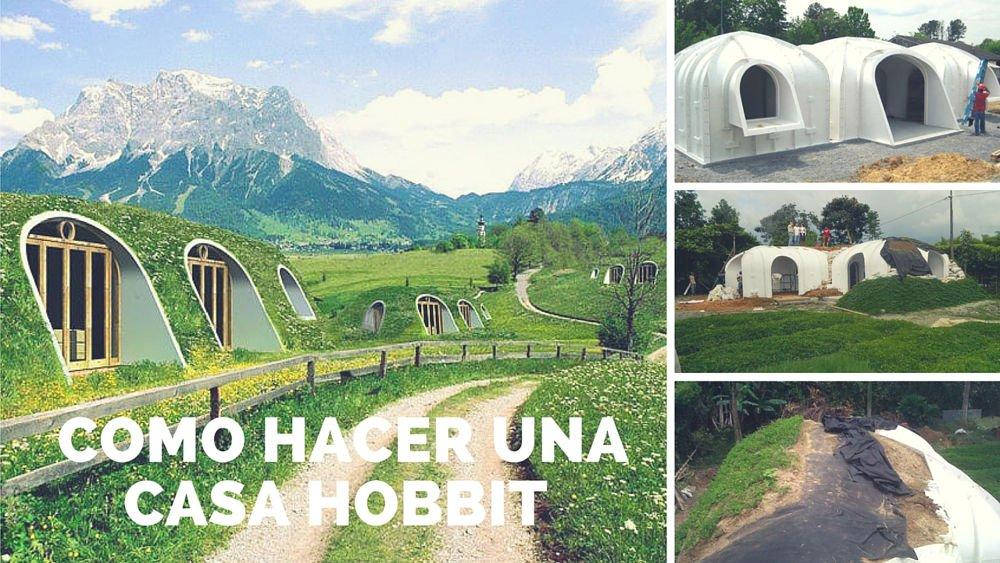 Como hacer una casa hobbit con techo verde en s lo 3 d as - Que vale construir una casa ...