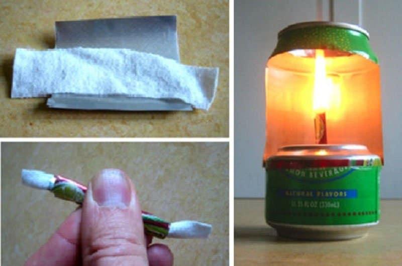 cómo hacer una lampara con una lata