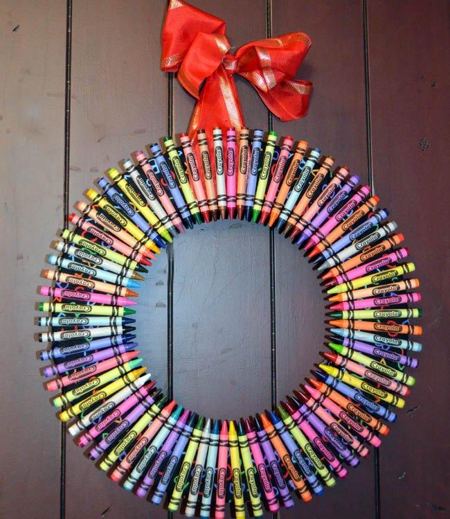 Guirnalda usando lápices de colores