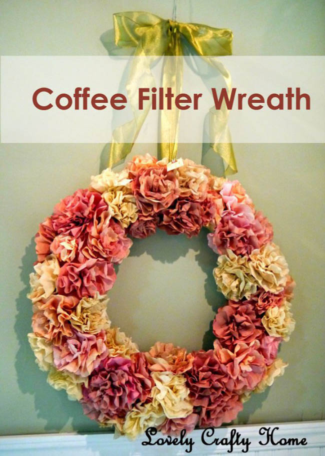 Guirnaldas navideñas con filtros de café