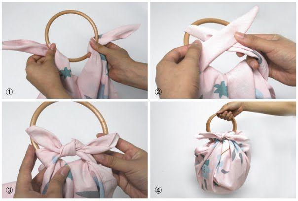 furoshiki bolsa con asas