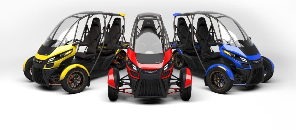 Arcimoto EV SRK 8. Prototipo de triciclo eléctrico listo para su producción