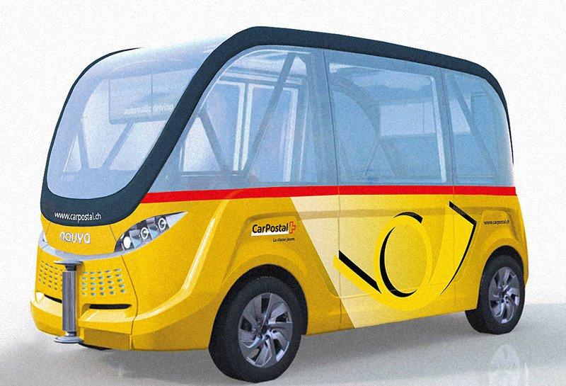 Autobus electrico autonomo suiza