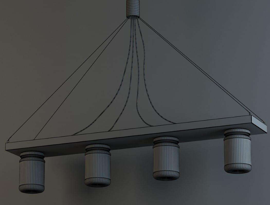 Preciosa lampara con frascos de vidrio2