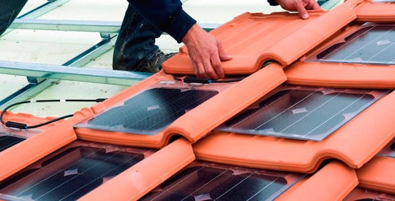 Tejas solares fotovoltaicas