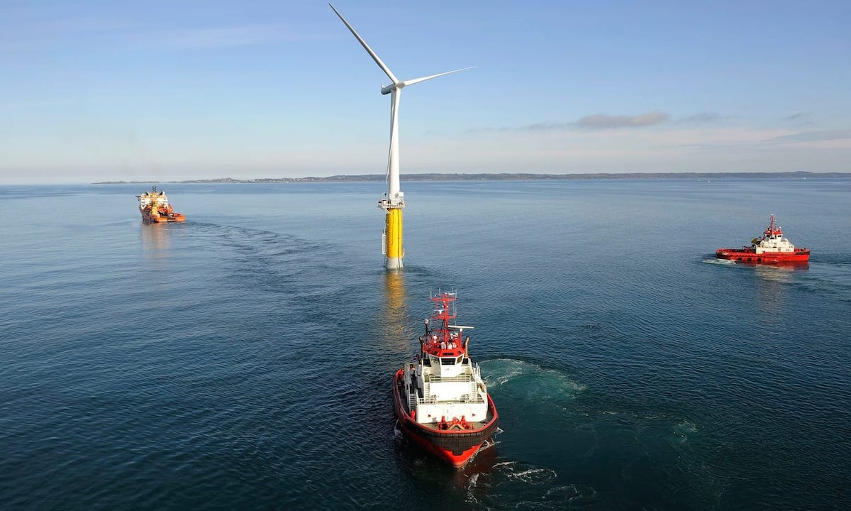 Turbina eolica flotante