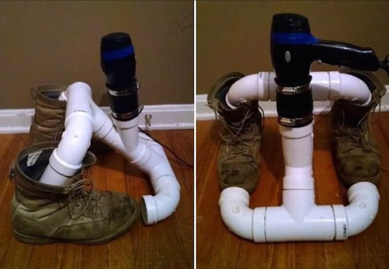 Сушилка для обуви от отопления своими руками из полипропилена