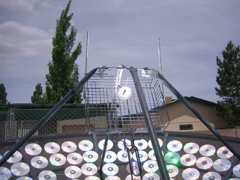 cocina solar con CDs