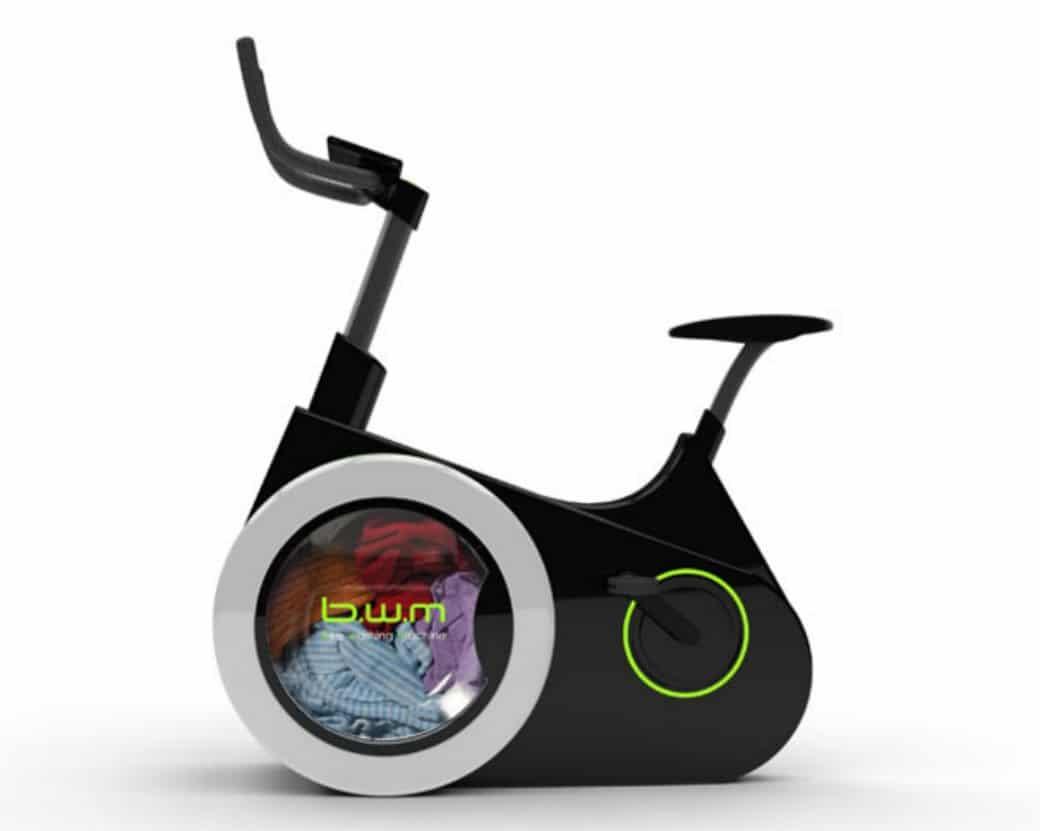Bike Washing Machine. Lava la ropa al mismo tiempo que haces ejercicio