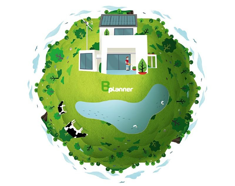 B-planner, la aplicación online que calcula la radiación solar y el viento en tu casa