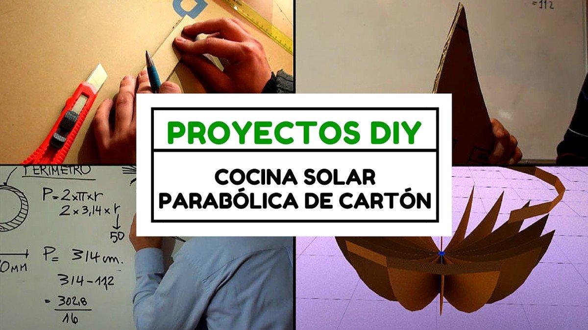Proyecto DIY: Cómo hacer una cocina solar parabólica de cartón