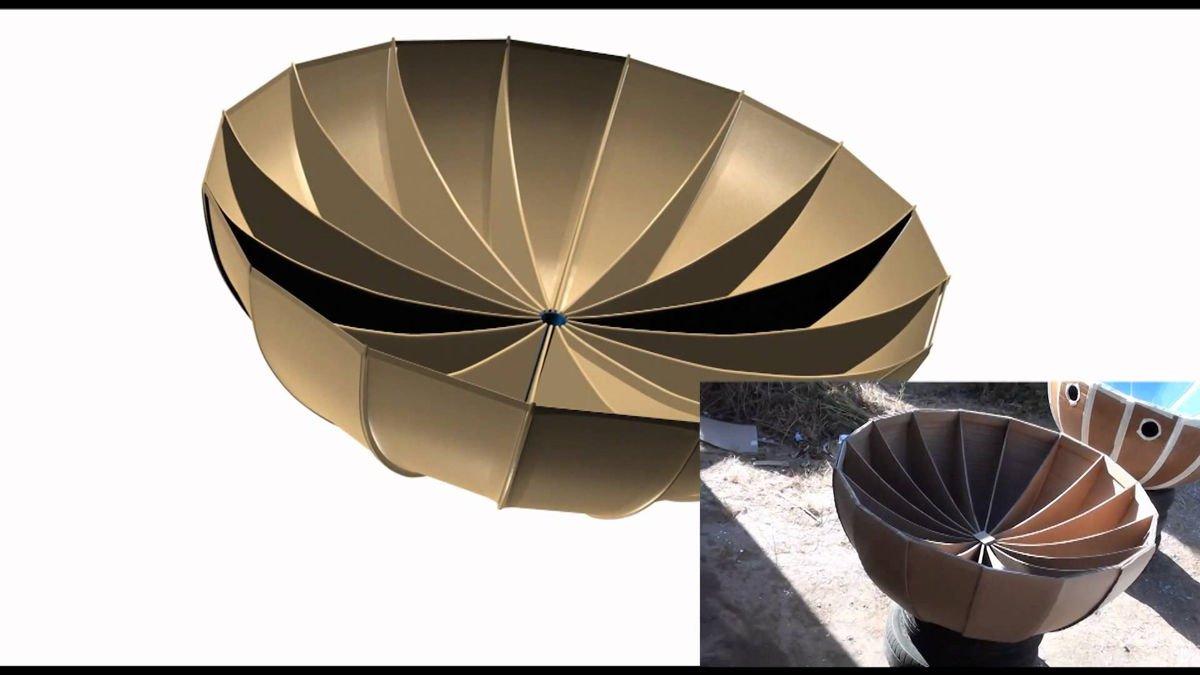 Cocina solar parabólica de cartón casera