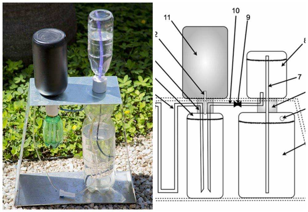 Riego por goteo solar con materiales reciclados
