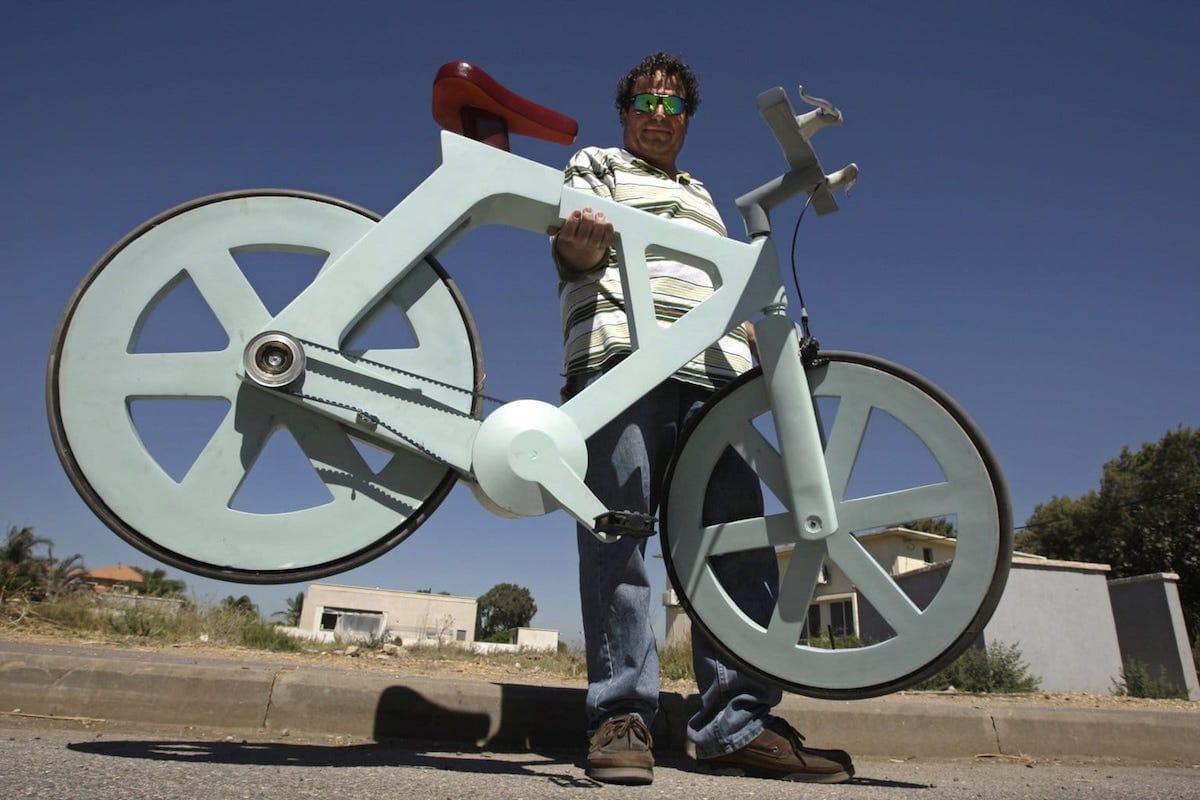 Esta es la bicicleta del futuro. La BV6, fabricada con cartón