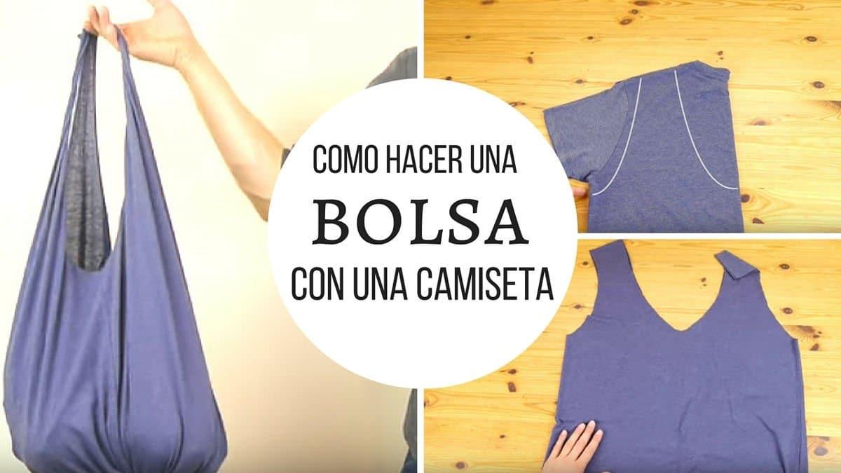 Cómo hacer una bolsa en 1 minuto con una camiseta y sin coser