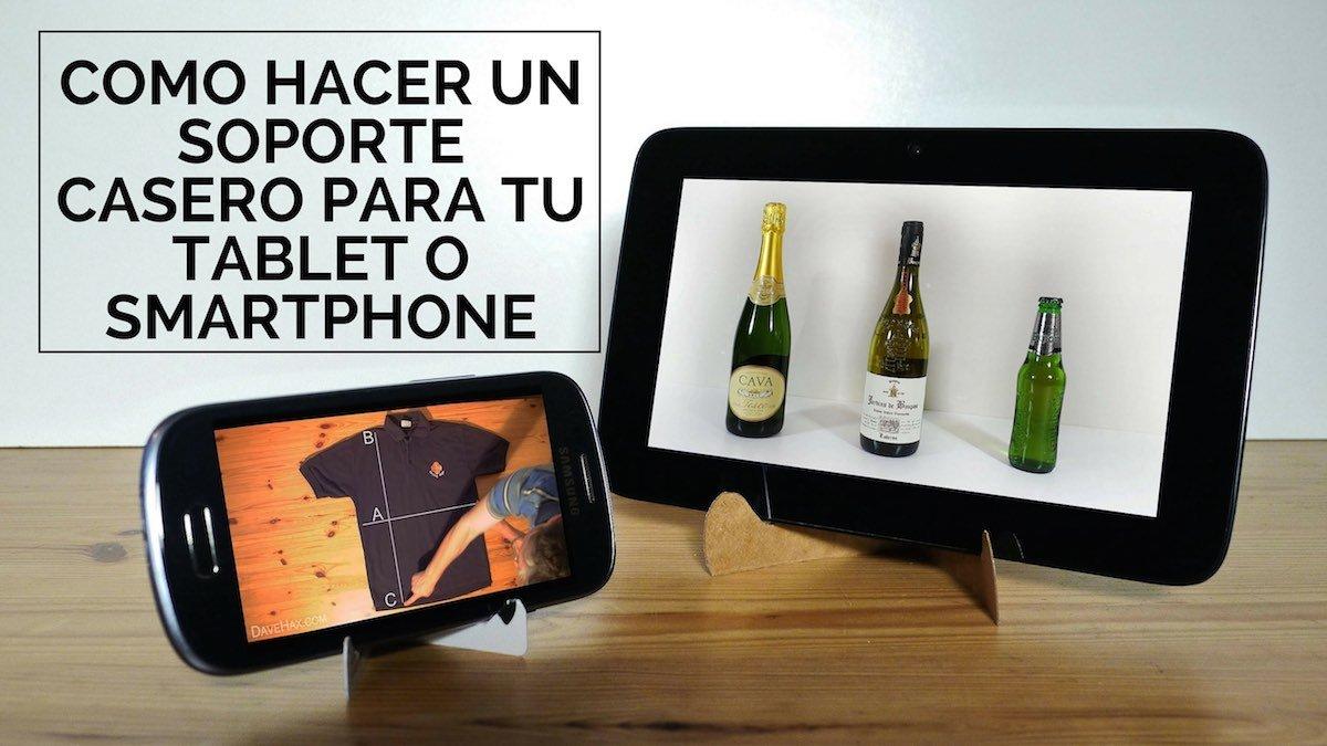 Como hacer un soporte casero para tablet o smartphone for Soporte tablet pared