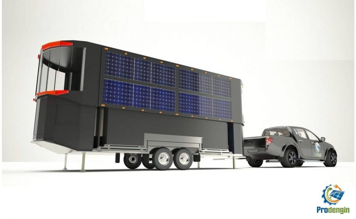 Casas solares extensibles transporte