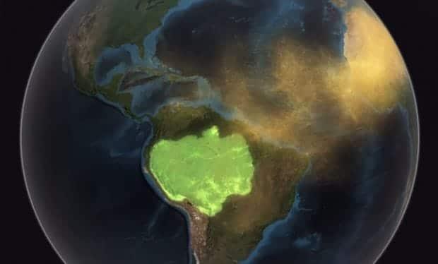 Vídeo de la NASA muestra cómo el polvo del Sahara fertiliza la Amazonia
