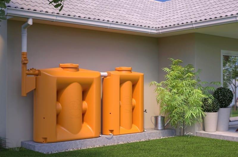 Tanque modular vertical para filtrar y almacenar agua de lluvia