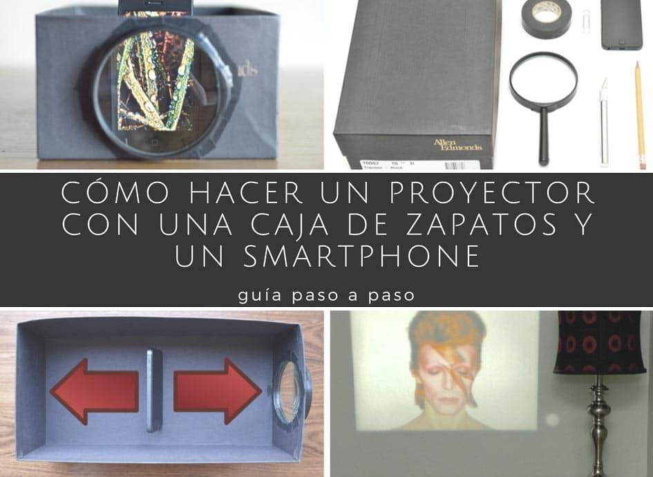 C mo hacer un proyector con una caja de zapatos y un - Como hacer una caja para te ...