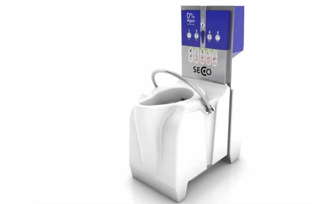 SECCO, el sanitario que no usa agua ni necesita instalación de tuberías, ahorrando 22.000 litros de agua al año por persona