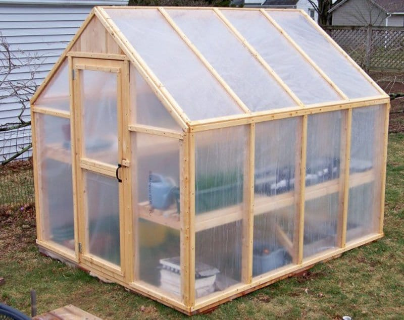 C mo construir un invernadero con estructura de madera - Invernaderos para casa ...
