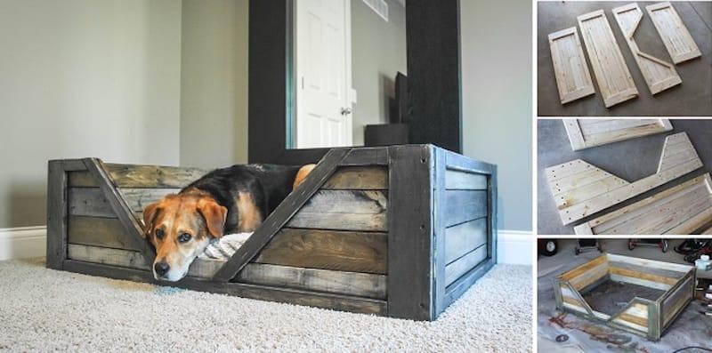 C mo hacer una cama para tu perro con palets for Como hacer una valla con palets
