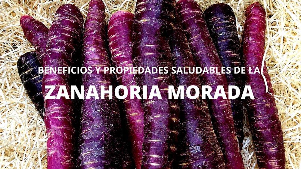Beneficios zanahorias moradas