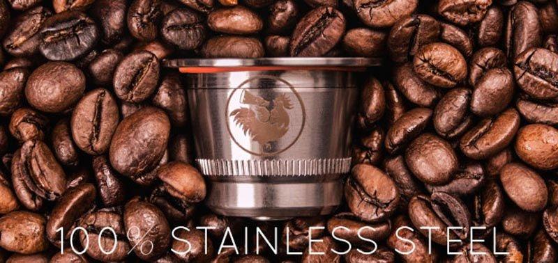 Cápsulas de café de acero inoxidable