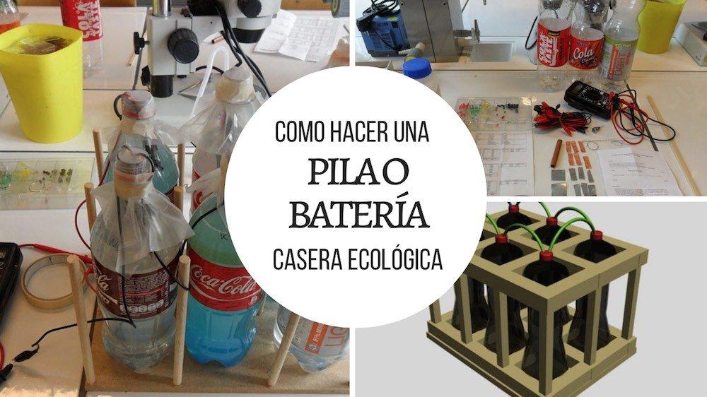 Como hacer una pila batería casera ecologica