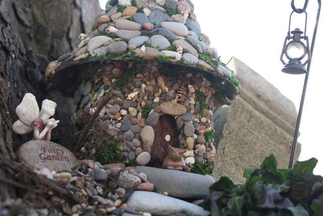 Hacer una casa de piedra de hadas1