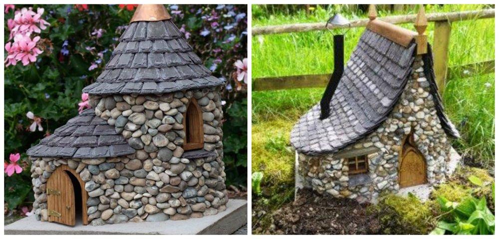 Incre bles casas de piedra en miniatura for Casas de plastico para jardin
