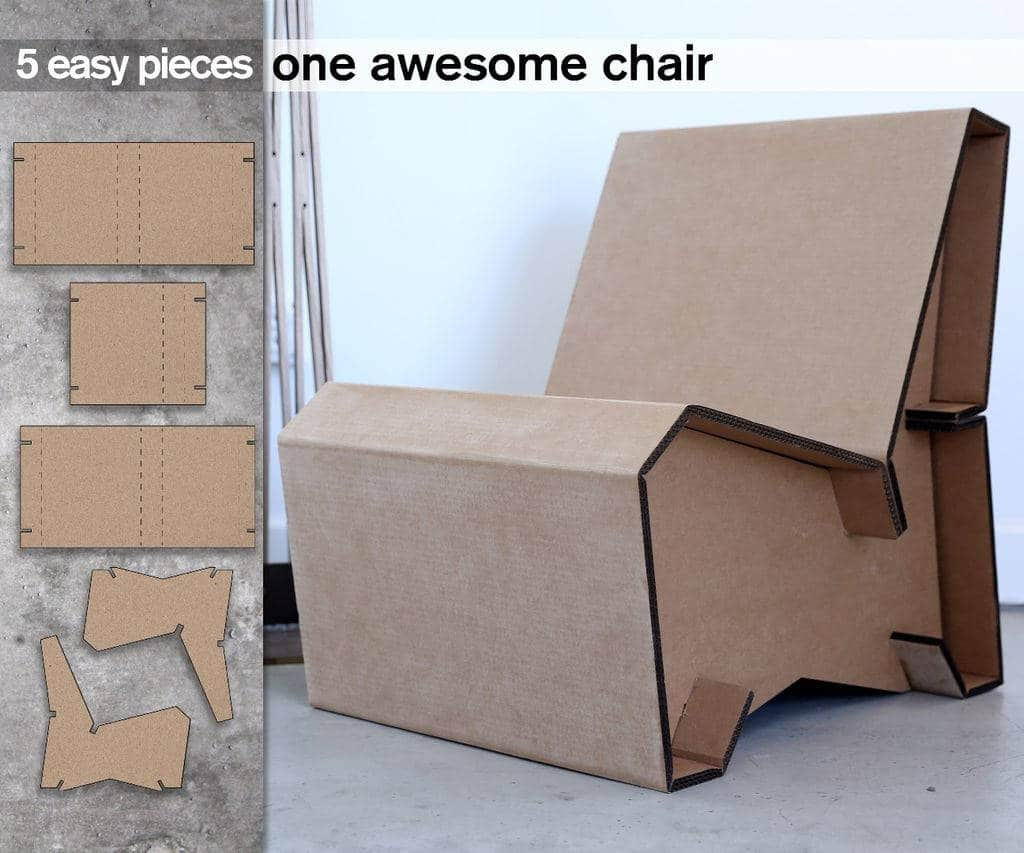 C mo hacer un sill n de cart n for Como hacer un sillon con una cama