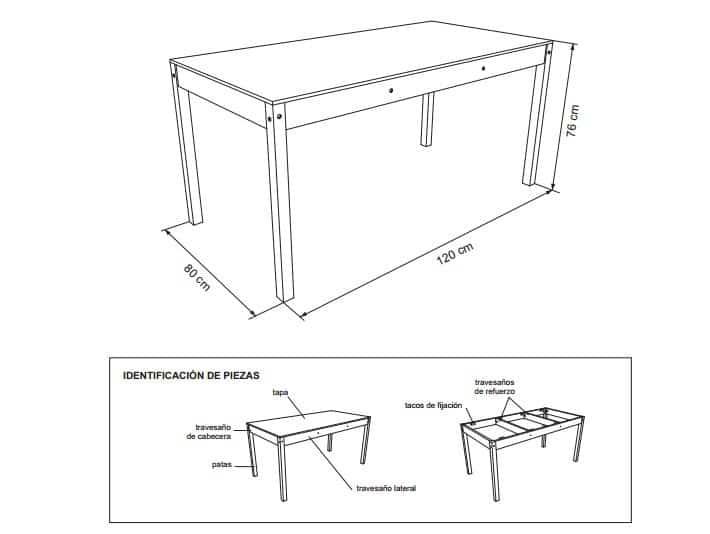 Planos para construir muebles de madera for Construir mesa de madera