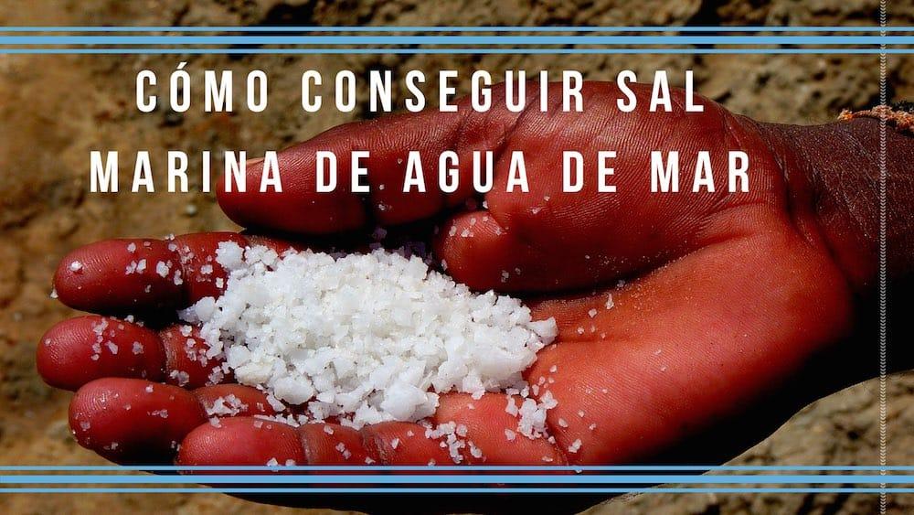 Cómo conseguir sal marina de agua de mar