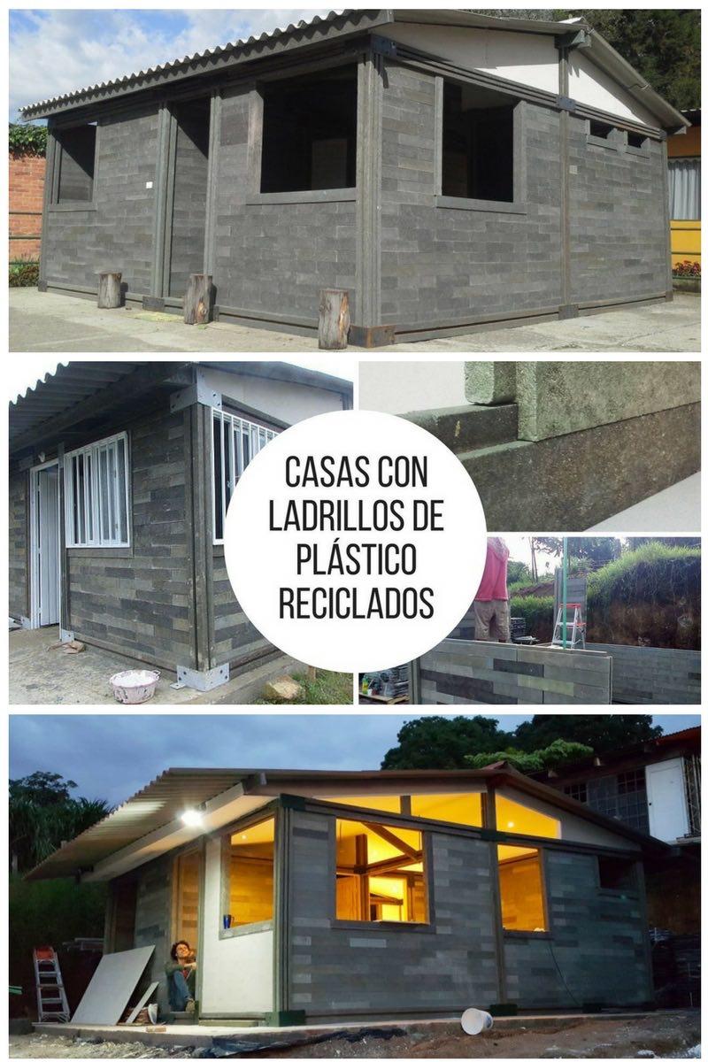 Casas con ladrillos de plástico reciclados