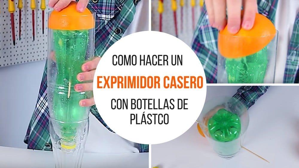 Como hacer un exprimidor casero con botellas de plástico