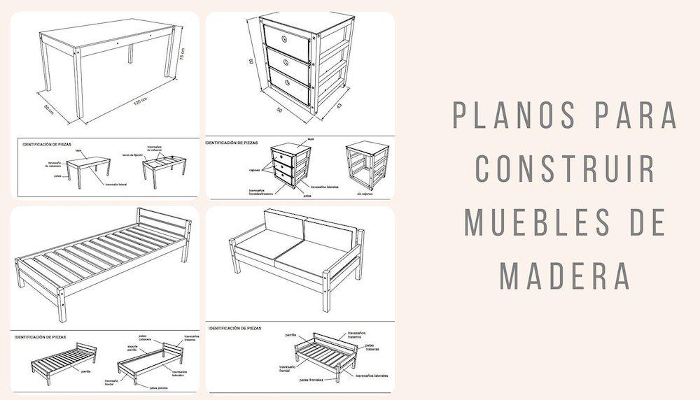 Planos para construir muebles de madera for Planos y diseno de muebles