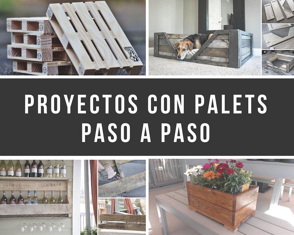 11 proyectos con palets paso a paso for Mesa de palets paso a paso