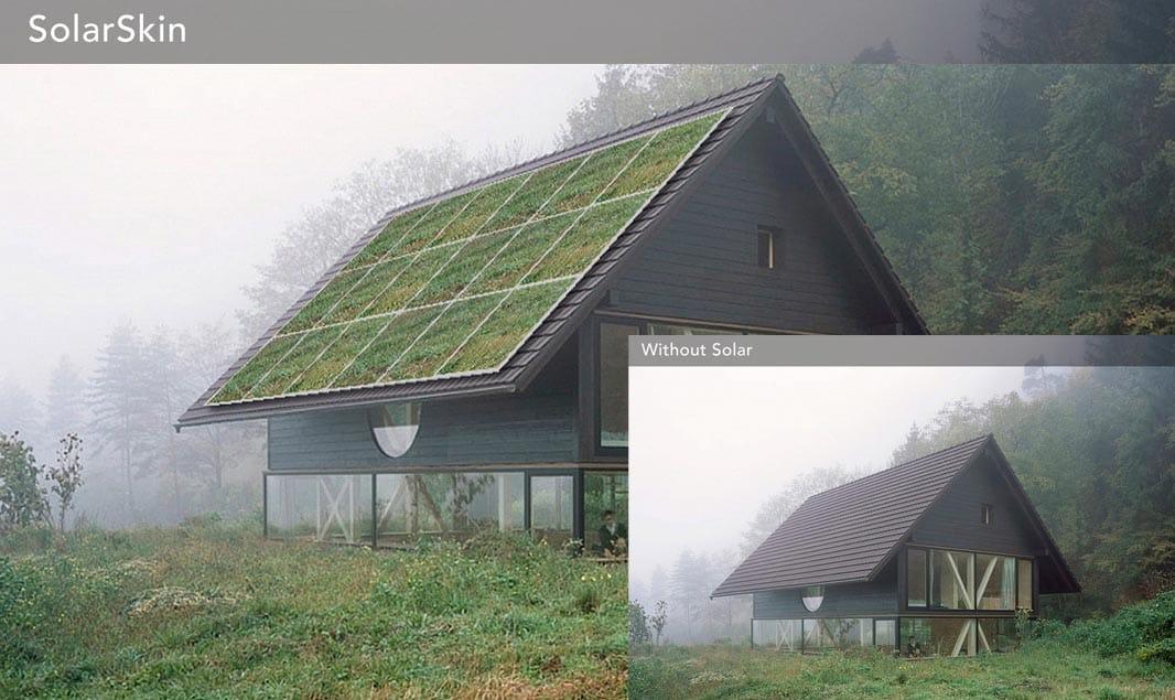 Solarskin paneles solares que cambian de color para for Tejados solares