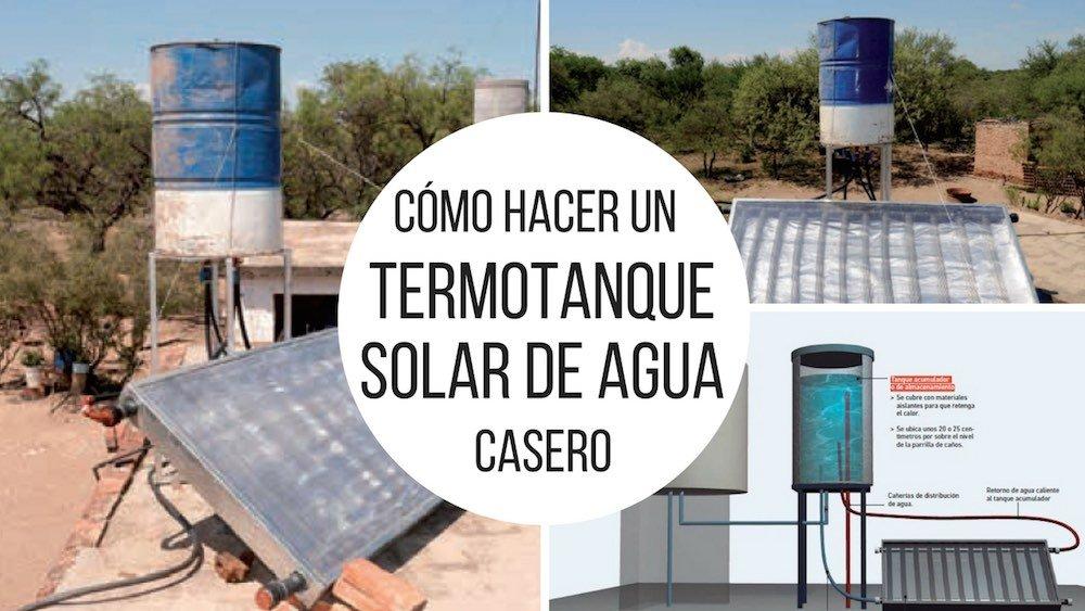 Cómo hacer un termotanque solar de agua casero
