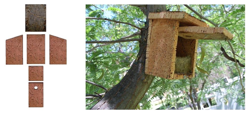 Cajas nido en corcho natural, el proyecto que impulsa INECOR
