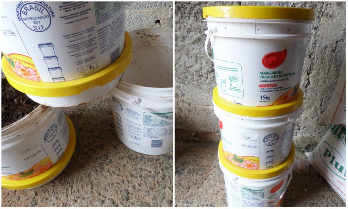 compostadora casera reutilizando bidones de plástico6