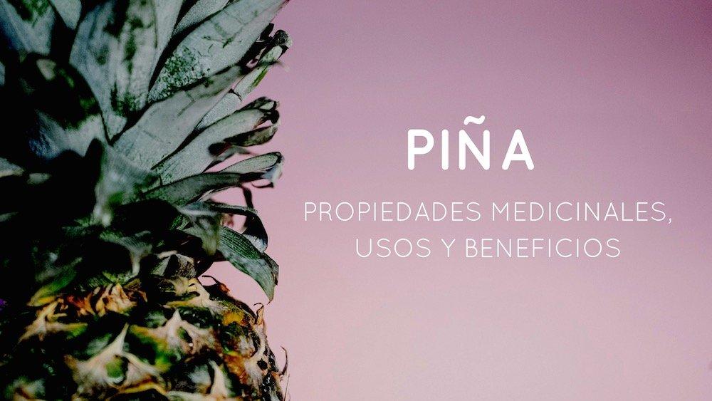 Propiedades, beneficios y usos medicinales de la piña