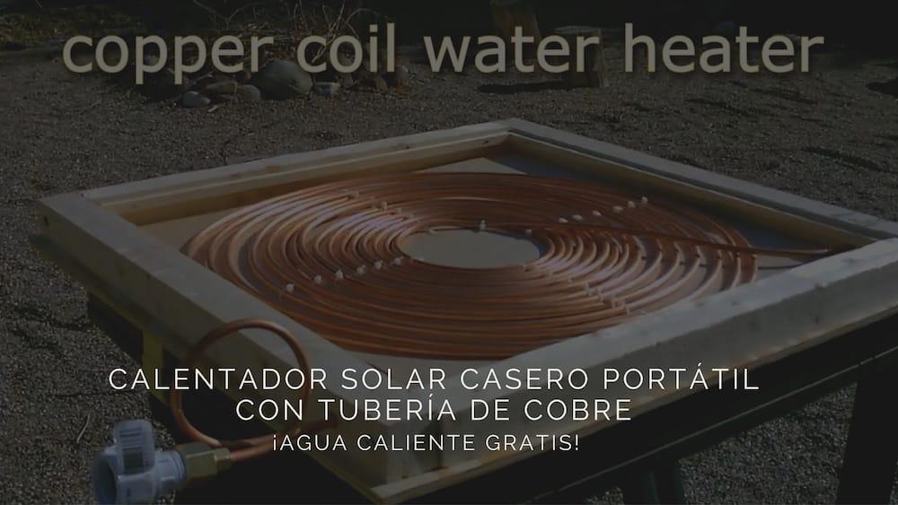 C mo construir un calentador solar casero port til con for Calentador solar piscina casero