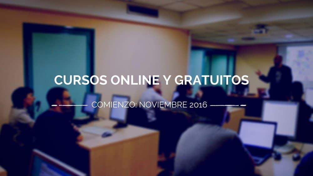 Cursos gratuitos online que comienzan en noviembre