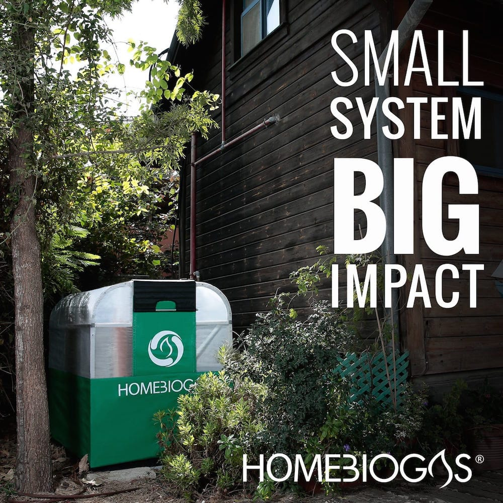 Máquina de biogás casera
